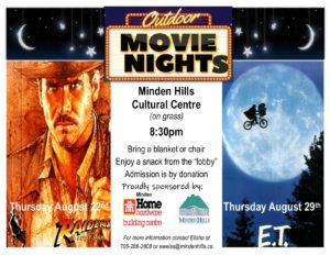 Minden Hills Cultural Centre Outdoor Movie Nights Poster