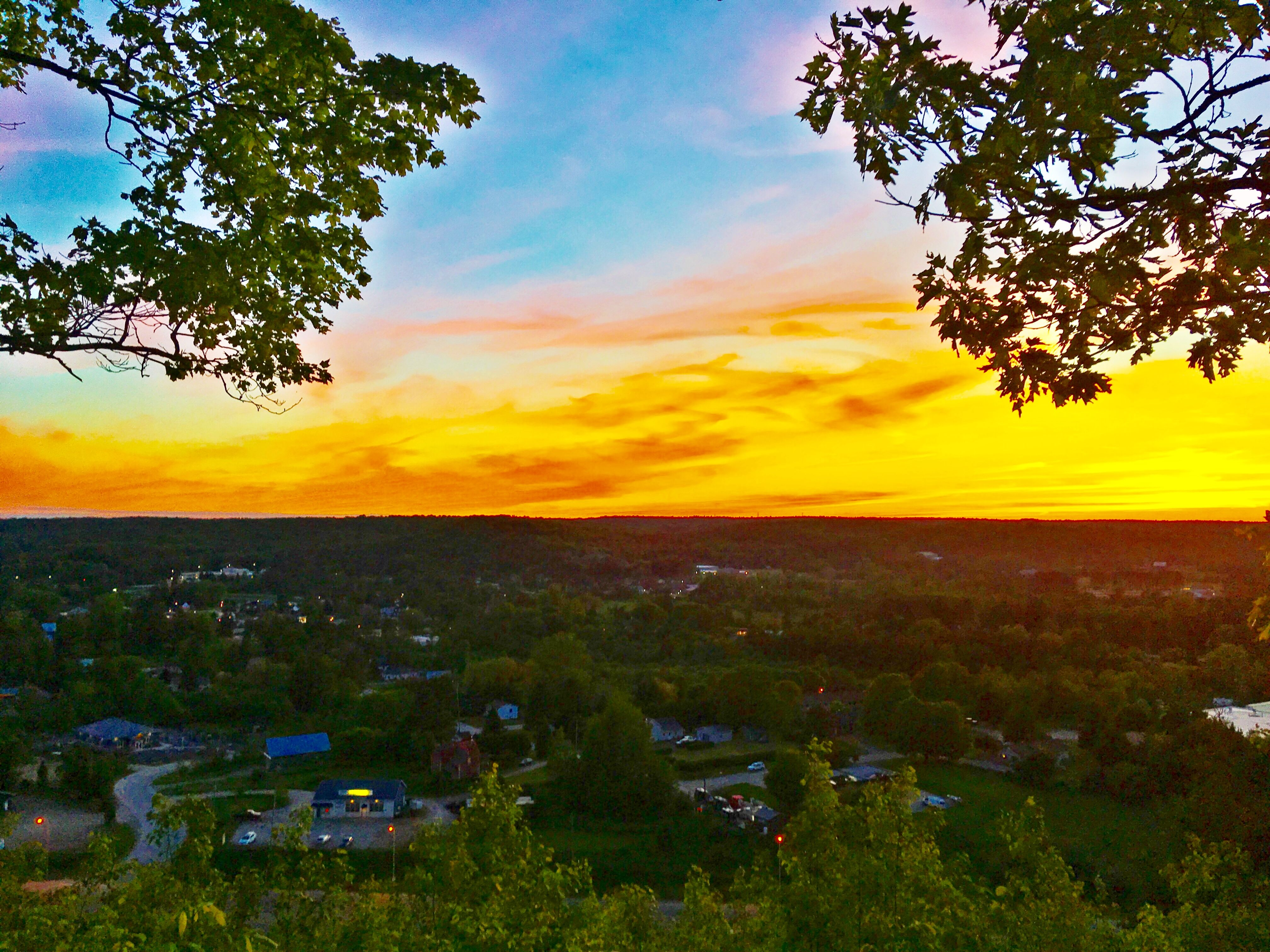 Sunset view of Minden from Panorama Park